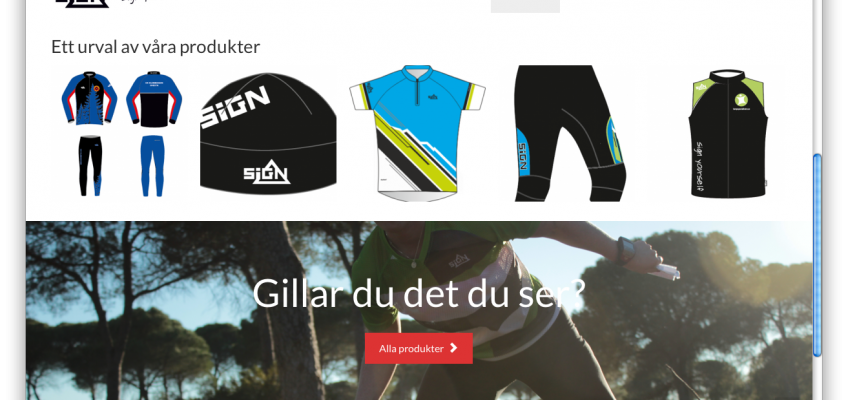 Egen hemsida för SIGN Sport Sweden